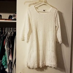 Gorgeous Divided by H&M white lace dress